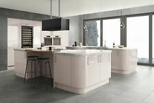 Lusso Cashmere Gloss Complete Flat Pack Kitchen Units,Cashmere Kitchen Cupboards