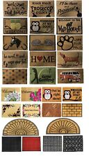 DOOR MAT RUBBER BACK INDOOR OUTDOOR HEAVY DUTY COCONUT COIR ENTRANCE LOBBY FOYER