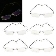 Fashion Metal Rimless Reading Glasses Optical Myopia Eyeglasses Spectacles Frame