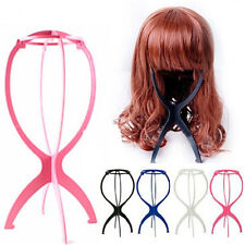 New Folding Plastic Stable Durable Wig Hair Hat Cap Holder Stand Display Tool UY