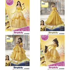 Disney Princess Costume Belle Beauty and the Beast Simplicity Pattern New U Pick
