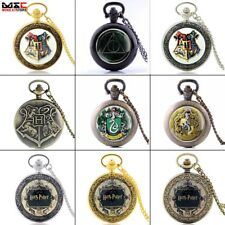 Vintage Harry Potter Antique Pocket Watch Necklace Quartz Pendant Collection New