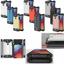 Slim Armor Shockproof TPU+PC 2in1 Hybrid Hard Case Cover Skin For LG Cell Models