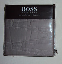 Hugo Boss Tribeca NWT $70 Quilted Pillow Sham, Euro or Standard, Gray, NIP