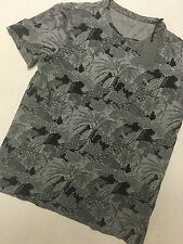 "ALL SAINTS GREY MARL ""LANDSCAPE"" FITTED PATTERNED T-SHIRT XS S M L XXL NEW TAGS"