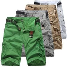 New Mens Casual Military Army Cargo Camo Combat Solid Work Shorts Pants Trousers
