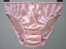 Vintage Sexy Sissy Sheer Lace Nylon Panties Hi-Cut Briefs Knickers @ Size L / XL