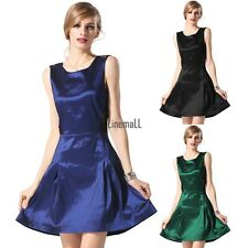 Finejo Stylish Sexy Lace Cross Sleeveless Party Cocktail Charming Dress LM02