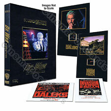 2x Doctor Dr Who Peter Cushing Daleks 2150 Movie Box+Cells+Booklets Set *NO DVD!
