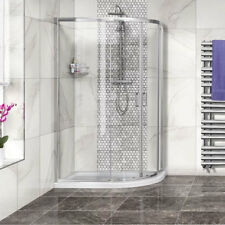 Offset Quadrant Shower Enclosure ; 4mm Toughened Glass Cubicle ; Optional Tray