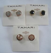 AUTHENTIC BRAND NEW T TAHARI ROSE GOLD CRYSTAL STUD EARRING MAKES PERFECT GIFT