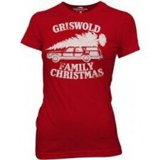Juniors Red Comedy Christmas Vacation Griswold Family Christmas T-shirt Tee