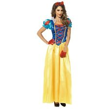 Snow White Costume Adult Fairy Tale Princess Halloween Fancy Dress