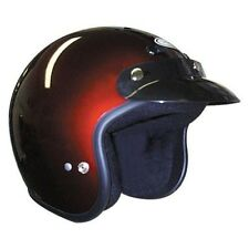 THH T-380 Open Face Motorcycle Street Helmet Wine Size Small 02-2344