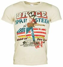 Official Men's Beige '85 US Tour Bruce Springsteen T-Shirt