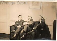 Old Vintage Photograph Black & White Photo Men Woman Sitting Well Dressed 1930s