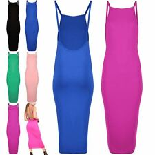 Womens Ladies Celeb Strappy Backless Bodycon Party Cocktail Evening Midi Dress