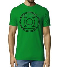 Green Lantern inspired distressed logo DC comics Hero mens T shirt
