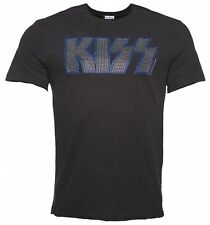 Official Men's Charcoal KISS Silver Diamante T-Shirt from Amplified