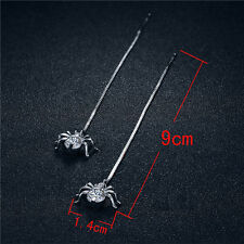 Fashion Spider Shaped Gift For Women 1Pair Long Earrings Jewelry Earrings