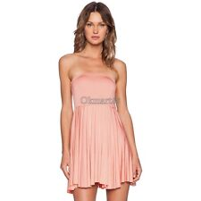 Women Fashion Sexy Strapless Sleeveless Off Shoulder Backless Stretch Solid OK01