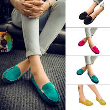 Women Ladies Loafers Moccasin Driving Flat Lazy Slip On Casual Pumps Peas Shoes