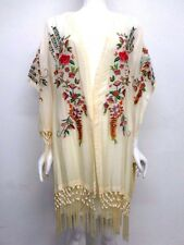 NWT Johnny Was Embroidered Kimono with Fringe - S / M - JW34160517