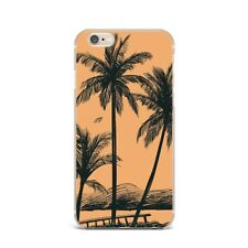 Palm Floral Beach Art Design Silicone Rubber Gel Case For IPhone 4S 5S 6S 7+