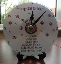 Personalised Birthday Gift 16th 18th 21st 30th 40th 50th 60th 70th CD Clock