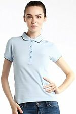 Authentic NWT Fred Perry ITALY MADE Women Short Sleeve Polo Shirt Scallop Tipped