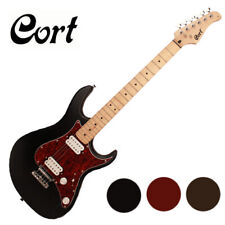 Cort G-100HH Electric Guitar Stratocaster Strat Humbucker Black Brown Red Fixed