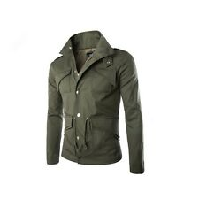 Military Style Designed Men's Slim Fit Jacket Coat Top Button Blazer Outerwear