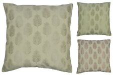 Fern FILLED Cushion Cover & Inner Pad Pillow - Woven Fern Leaf Face and Reverse