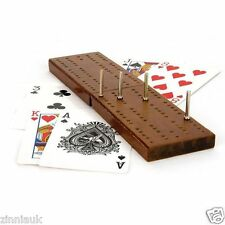 Classic Cribbage Family Game With Wooden Board Playing Cards Toyrific TY4412