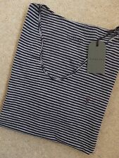 """ALL SAINTS GREY MOULINE INK """"BALTIS TONIC SCOOP"""" T-SHIRT TOP - XS S NEW TAGS"""