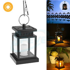Outdoor Solar Powered LED Candle Light Garden Table Camping Hanging Lantern Lamp