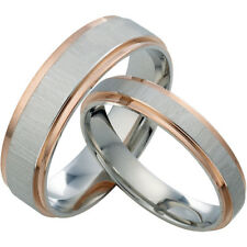 His & Her Rose Gold Anniversary Wedding Rings Set AA20082