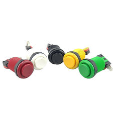 10Pcs Long Round Push Button MAME JAMMA MULTICADE Classic Arcade Game Button