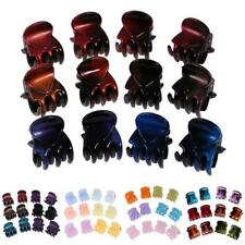 12 Pieces Mini Hair Claw Clips Girl Mix Color Fashionable Party Clamps Jaw Riser
