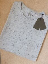 """ALL SAINTS MEN'S GREY """"MIDWEST"""" PATTERNED CREW T-SHIRT TOP - XS XXL - NEW TAGS"""