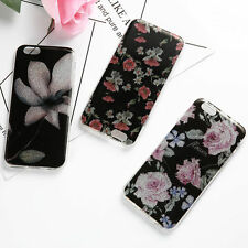 Retro Flower Pattern Rubber Soft TPU Silicone Phone Case Cover For iPhone 6 6s 7