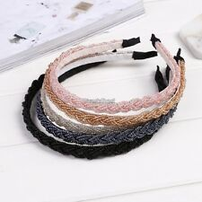 New Womens Fashion Twisted Beads Headband Hair Band Head Piece Hair Hoop WST