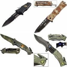 ARMY Rescue Knife Folding Knife for Military Camo Rescue safety Pocket Knife