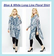NEW Summer Floral Long Top Blouse Cover Up PLUS SIZE Curve 16-32 Be yours evans