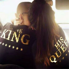 Fashion UNISEX Hoodie KING&QUEEN Hoodie Letter Print Casual Couple Tracksuit New
