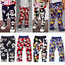 Infant Baby Boys Girls Winter Pants Mickey Fleece Bottoms Trousers Clothes 6-24M