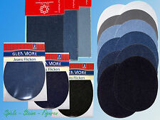 2 Jeans Patches, Iron mend, Sew-on patch, Repair Patches, Various Colors