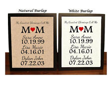 Mom Personalized Burlap Print   Gift for Mom   Childrens Names   Special Dates