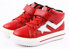 """Freycoo """"Mr Dunk"""" Red Leather Hi top Boys and Girls Shoes High Tops Hi-tops"""