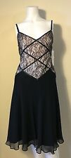 MAGGY LONDON New! Black Lace Spaghetti Strap Dress Size 10 & 12 NWT